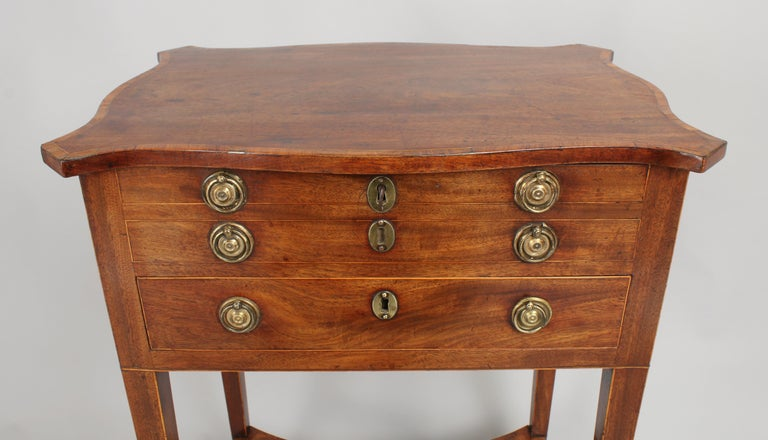 English George III Period Mahogany Worktable For Sale