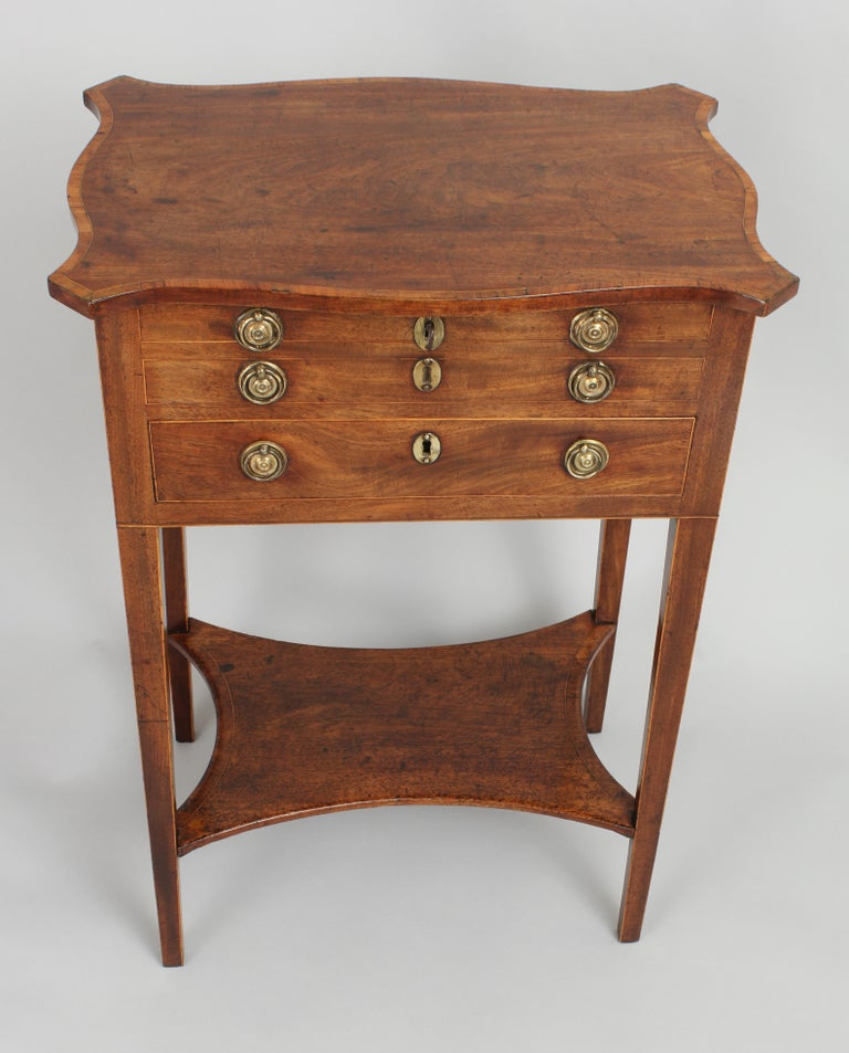 George III Period Mahogany Worktable In Good Condition For Sale In Cambridge, GB