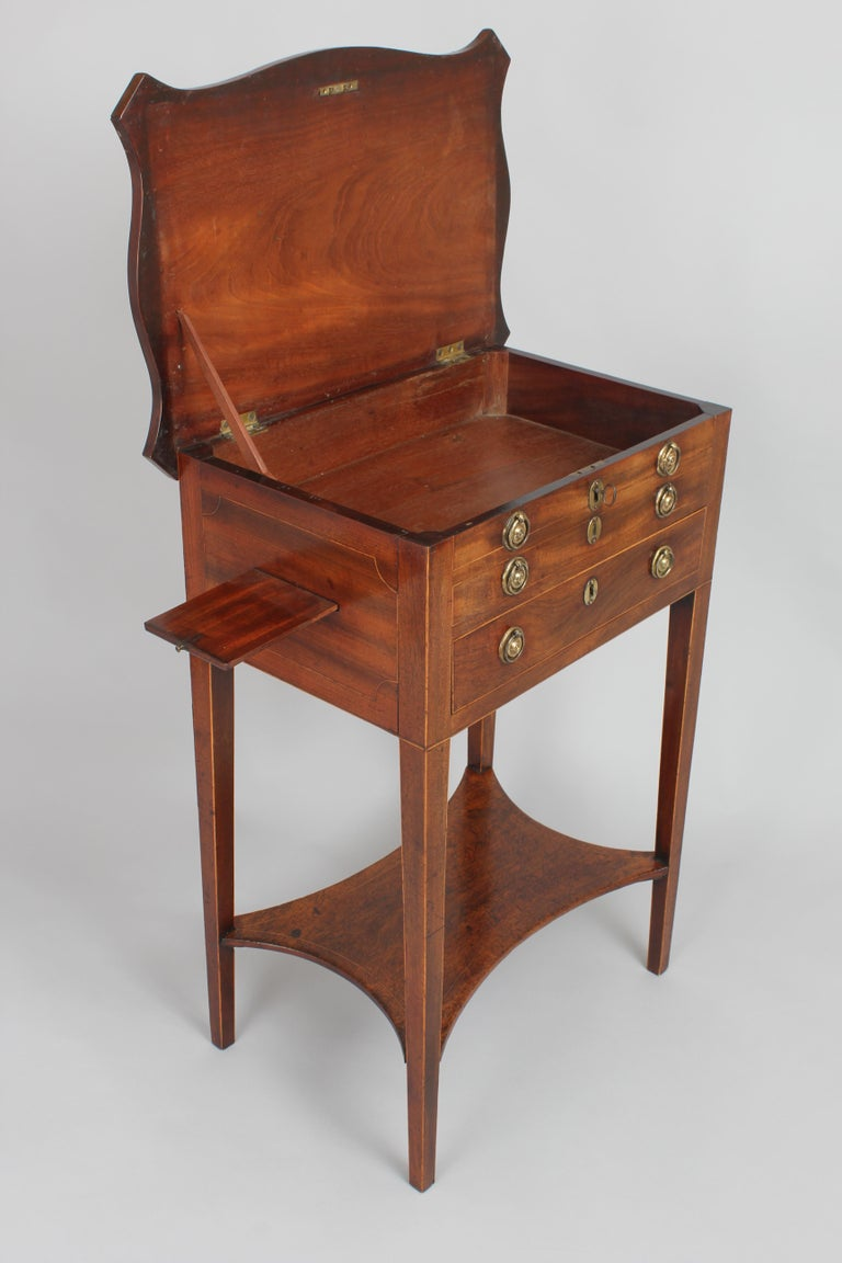 Early 19th Century George III Period Mahogany Worktable For Sale