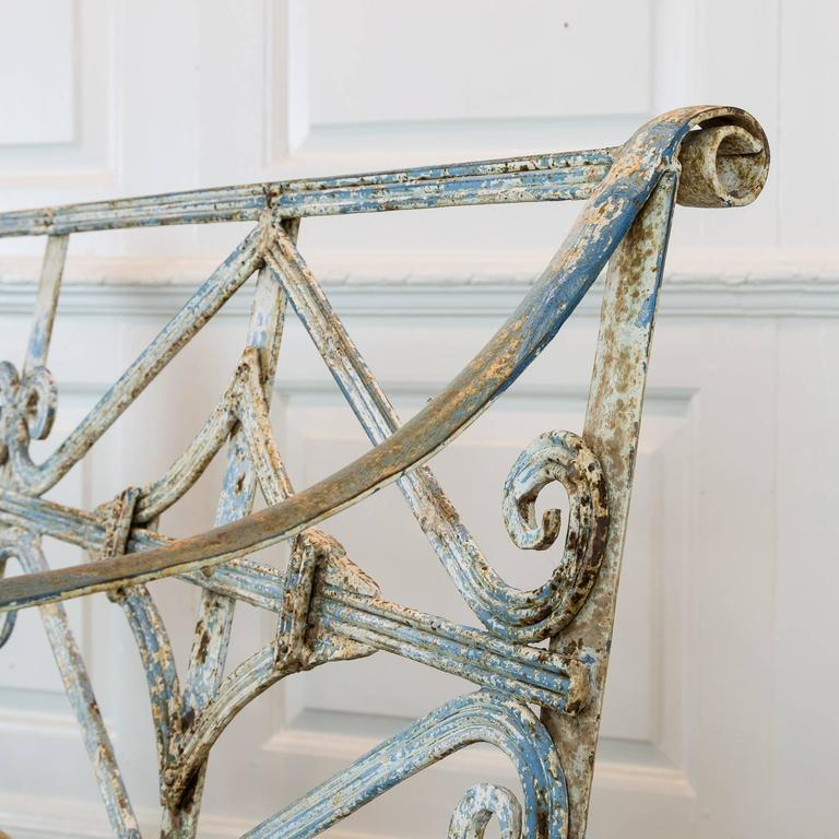 20th Century A Regency style reeded wrought iron seat, For Sale
