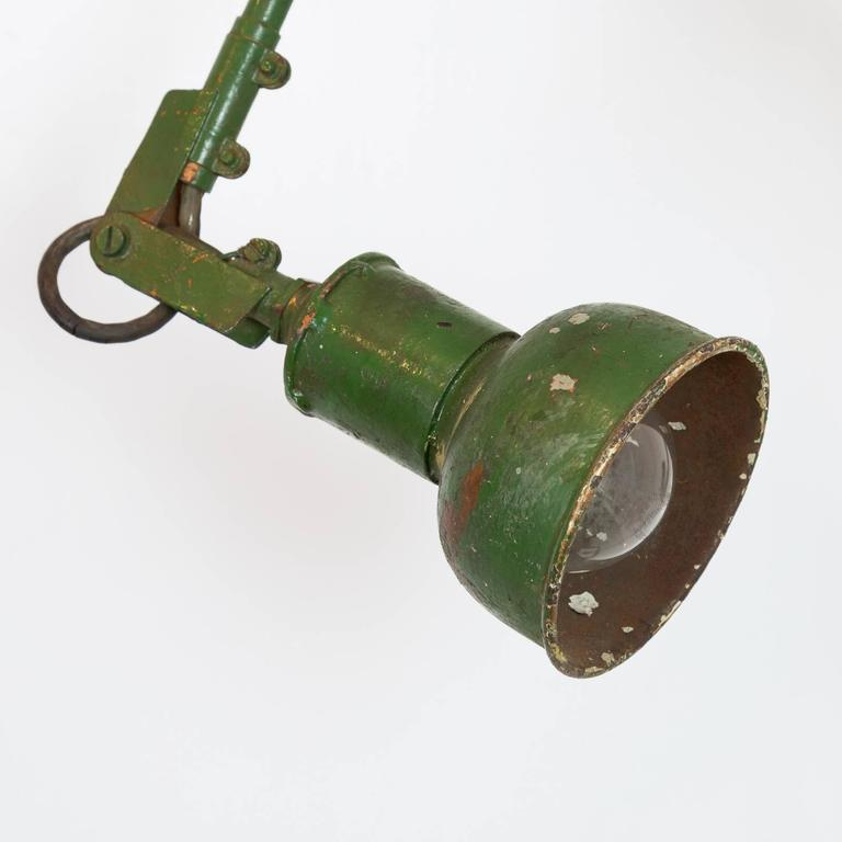 Industrial Machinist Wall Lamp In Distressed Condition For Sale In London, GB