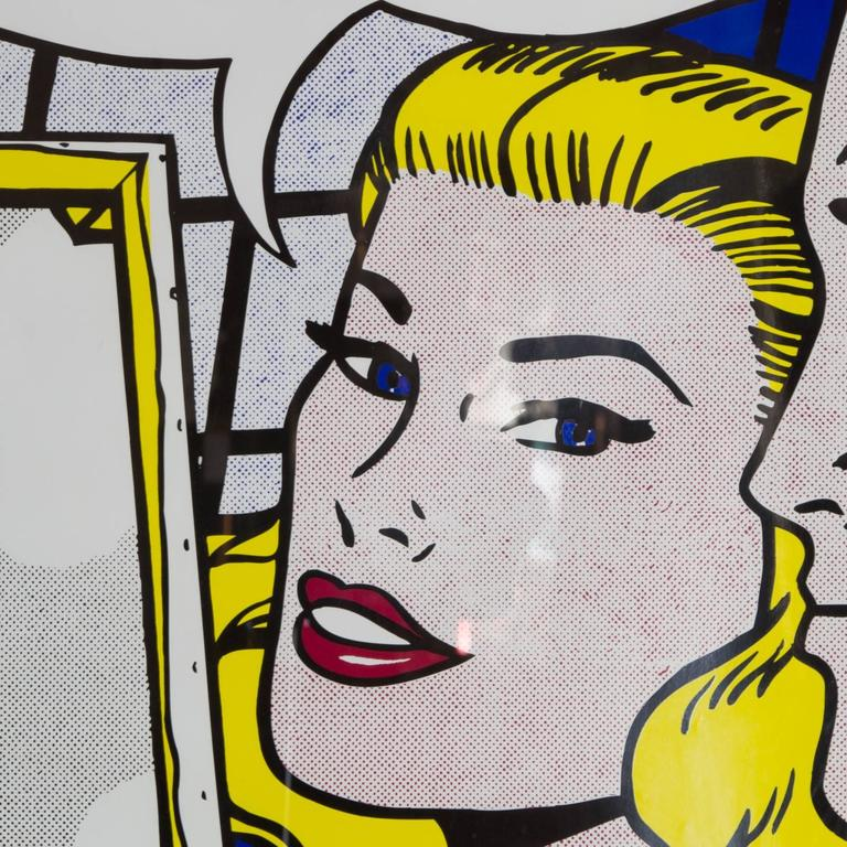 Contemporary roy lichtenstein framed poster at 1stdibs for Poster roy lichtenstein