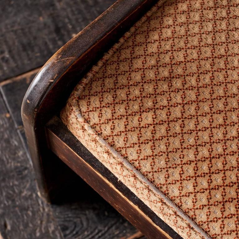 Quarter Sawn Oak Upholstered Pew 7