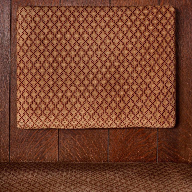 Quarter Sawn Oak Upholstered Pew 10