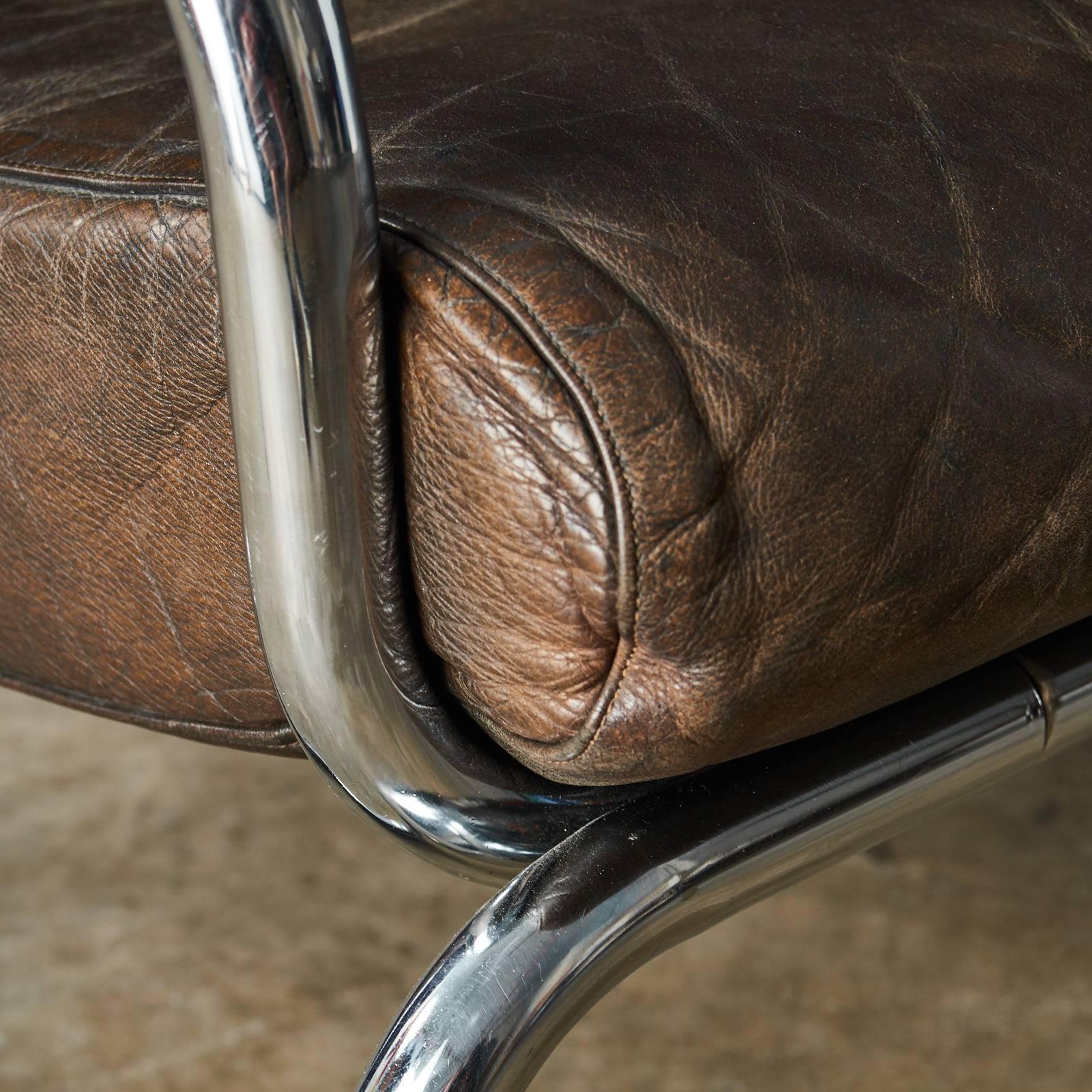 Rodney Kinsman Brown Leather Sofa at 1stdibs