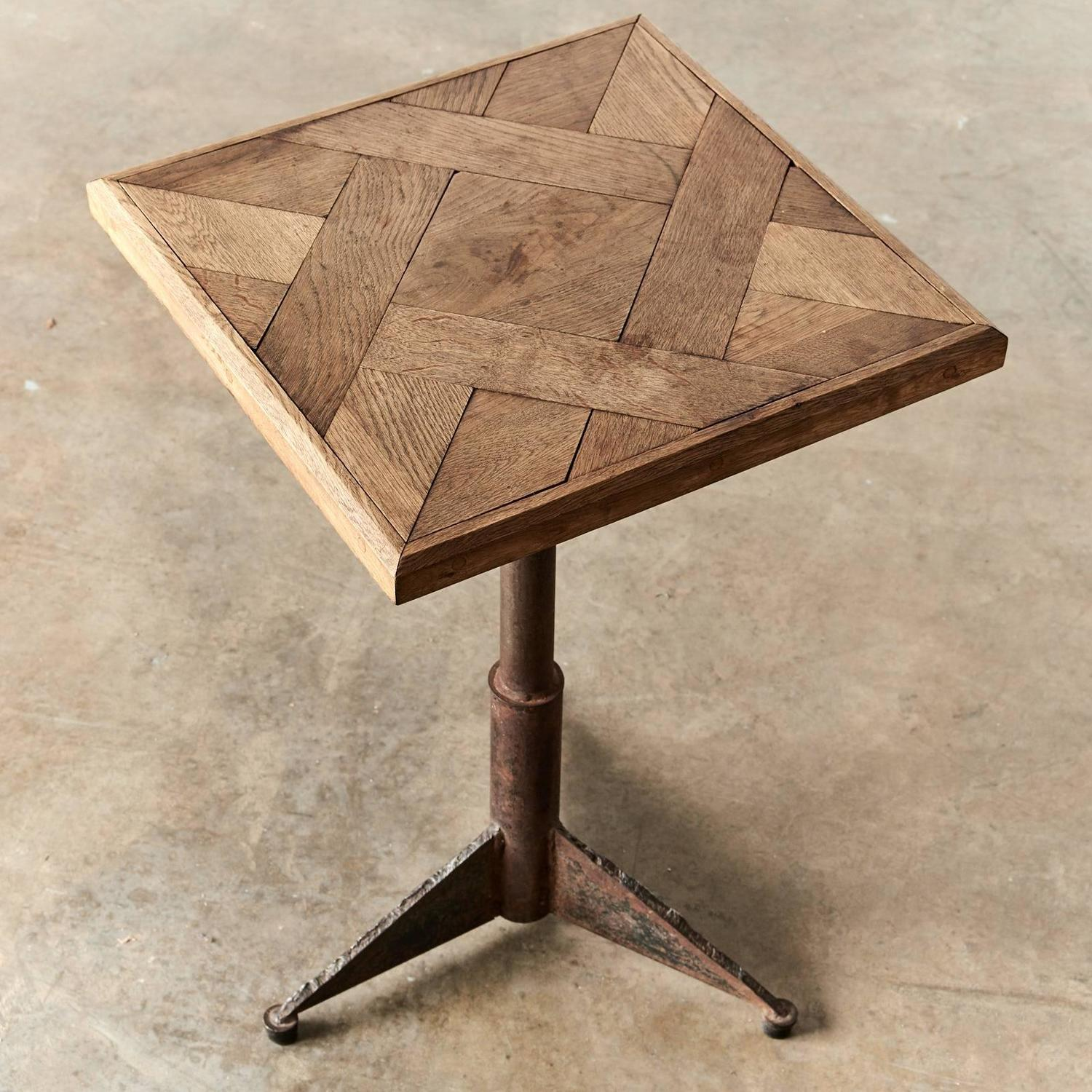 Versailles Square Coffee Table: Oak Parquet De Versailles Topped Table For Sale At 1stdibs