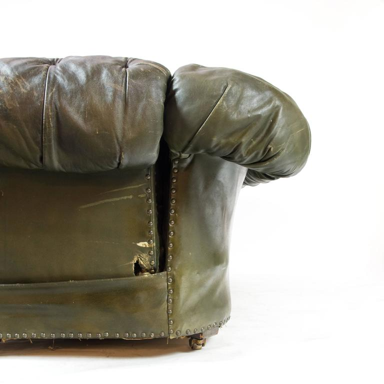 Antique Drop Arm Sofa: Victorian Drop-Arm Chesterfield Sofa For Sale At 1stdibs