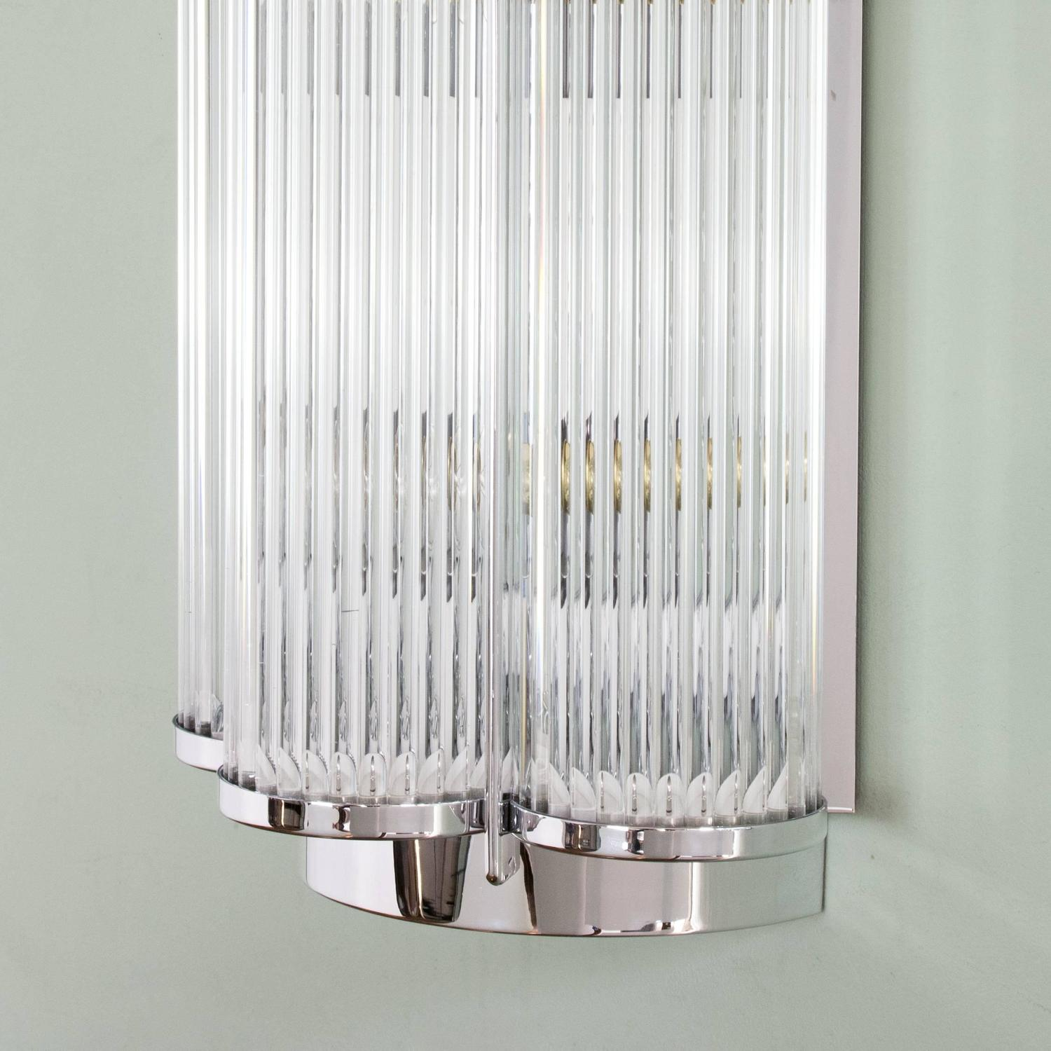 LASSCO Mid-Century Style Wall Light Chrome For Sale at 1stdibs