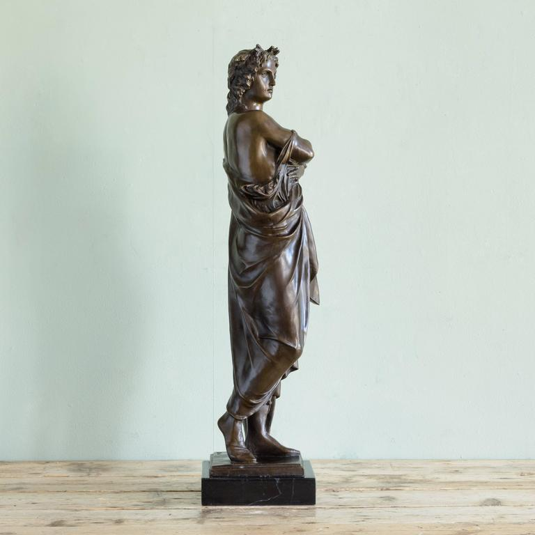 Bronze Statue of Vergil Holding a Copy of the Aeneid For Sale 1