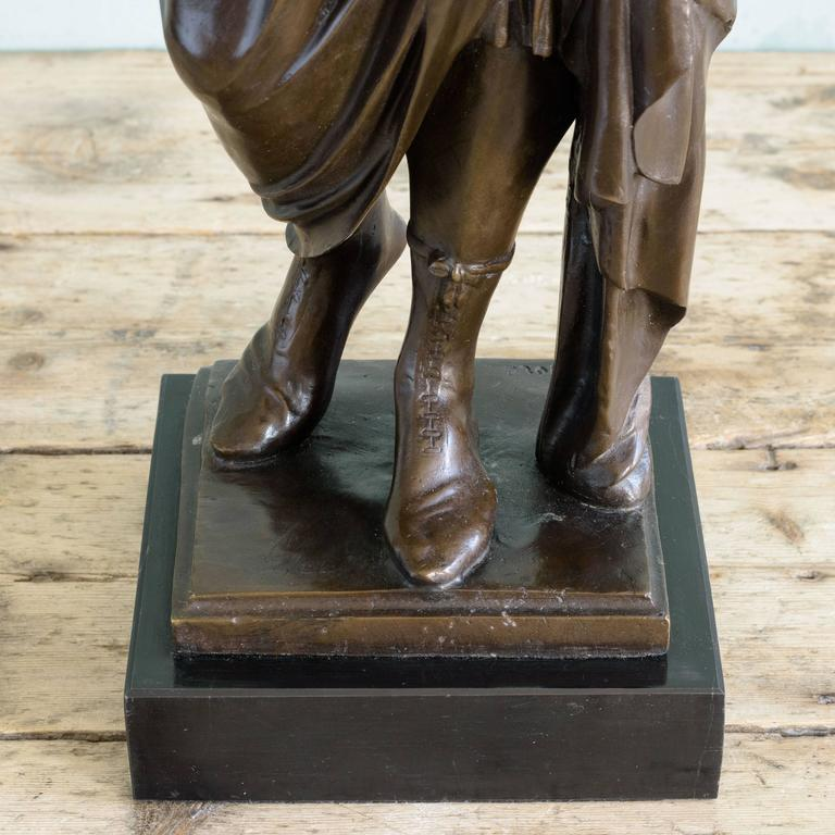 Bronze Statue of Vergil Holding a Copy of the Aeneid For Sale 2