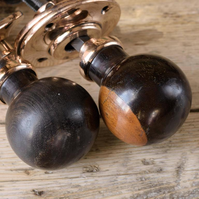 1920s Spherical Ebony Door Knobs At 1stdibs