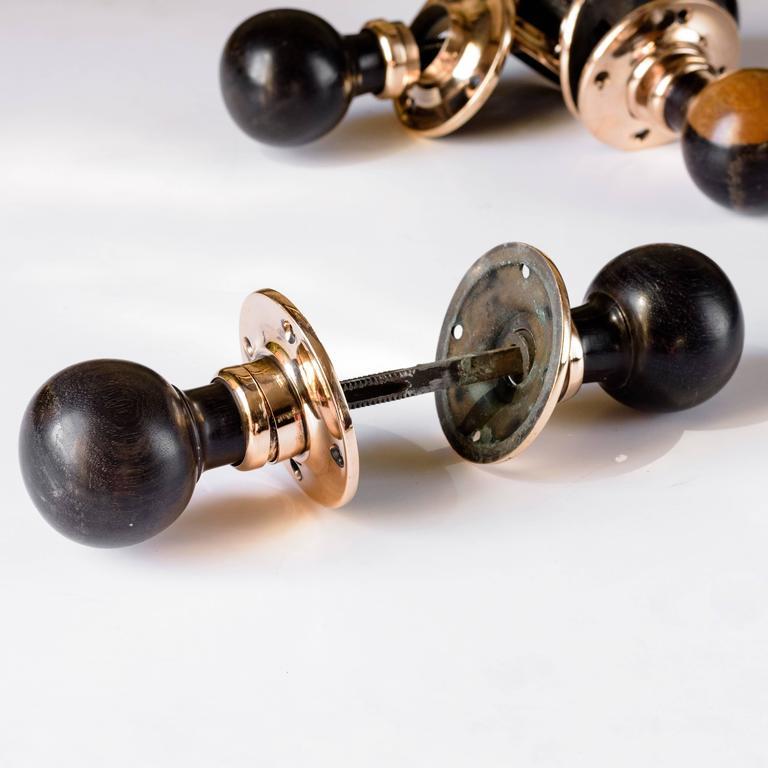 1920s spherical ebony door knobs at 1stdibs for 1920s door handles