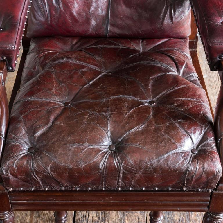 William IV Mahogany Reclining Reading Chair For Sale 1