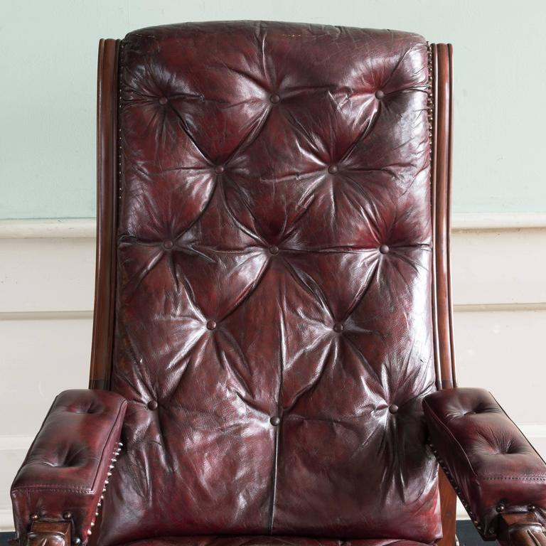 William IV Mahogany Reclining Reading Chair For Sale 3
