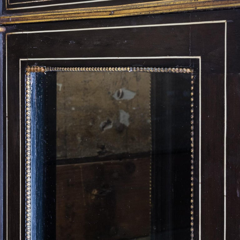 19th Century French Ebonized Side Cabinet For Sale 14