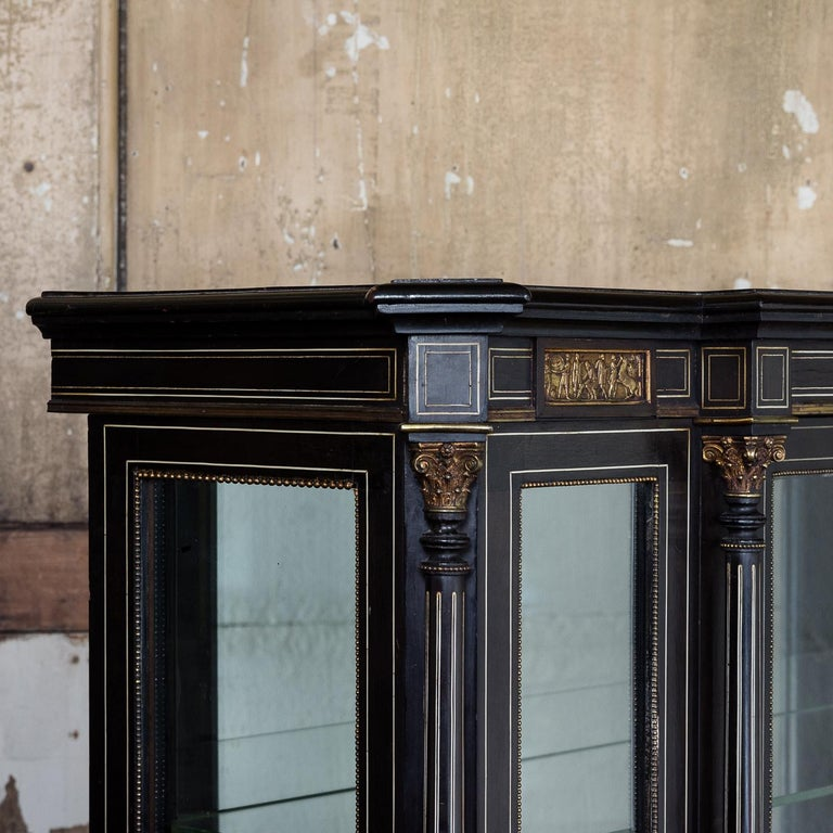 19th Century French Ebonized Side Cabinet For Sale 2