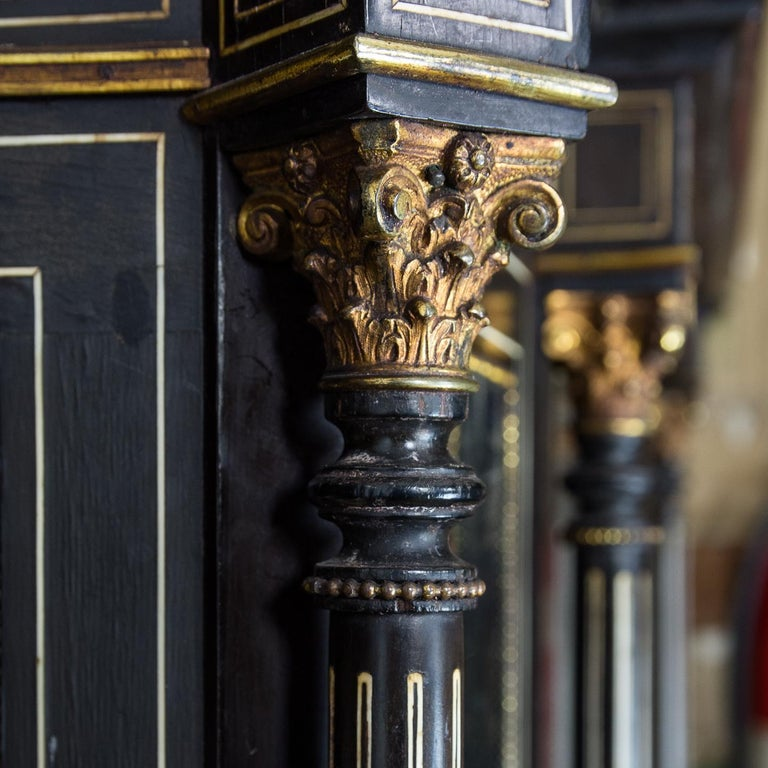 19th Century French Ebonized Side Cabinet For Sale 3