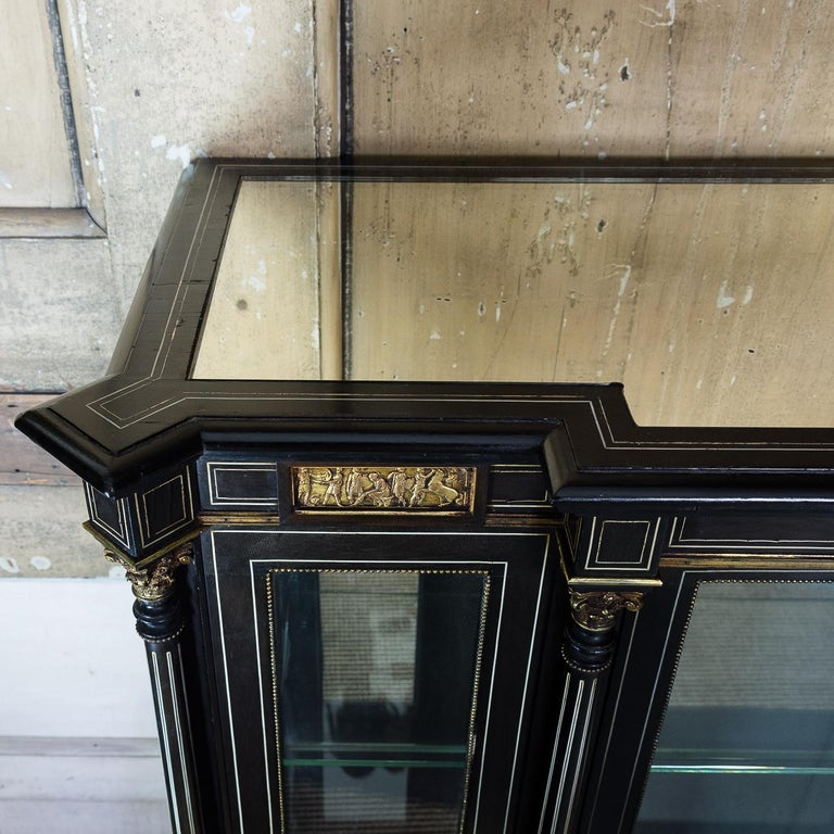 19th Century French Ebonized Side Cabinet For Sale 5