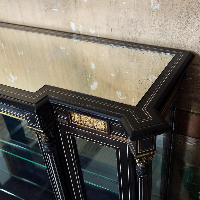 19th Century French Ebonized Side Cabinet For Sale 6