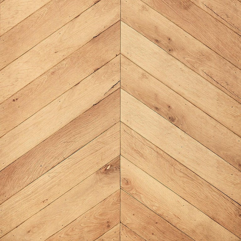 Carpathian oak chevron flooring