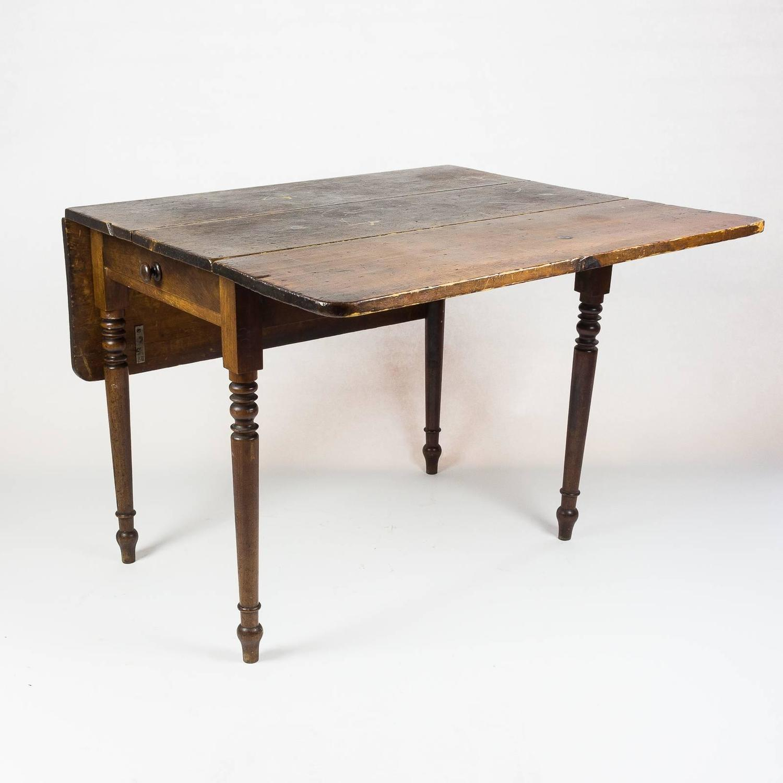 Drop Leaf Kitchen Table: Edwardian Drop-Leaf Kitchen Table At 1stdibs