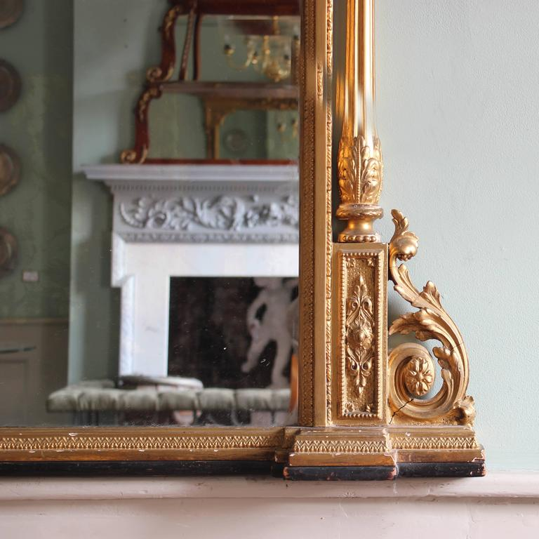 Mid Victorian Giltwood Overmantle Mirror For Sale At 1stdibs