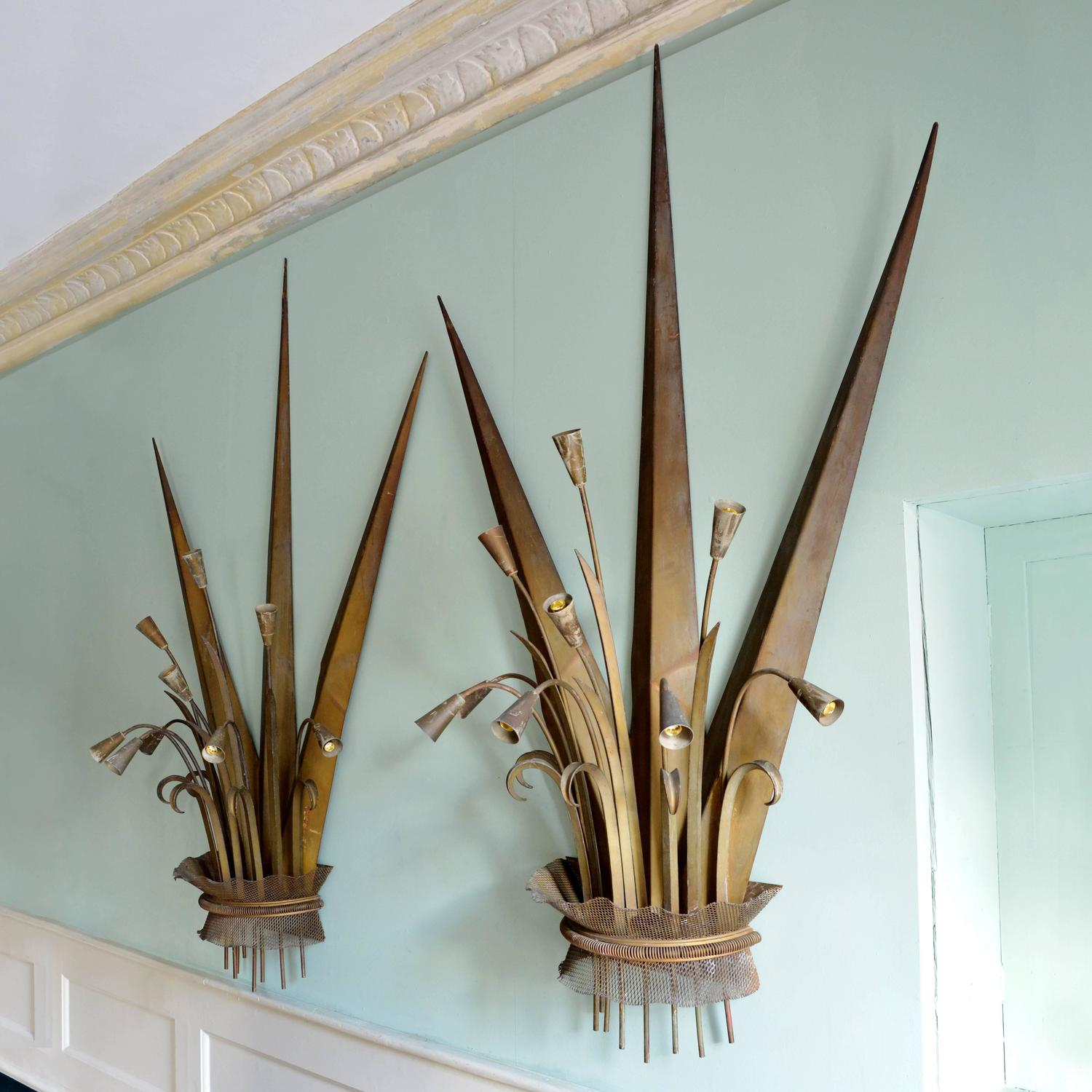 Large Plant-Form Wall Lights For Sale at 1stdibs