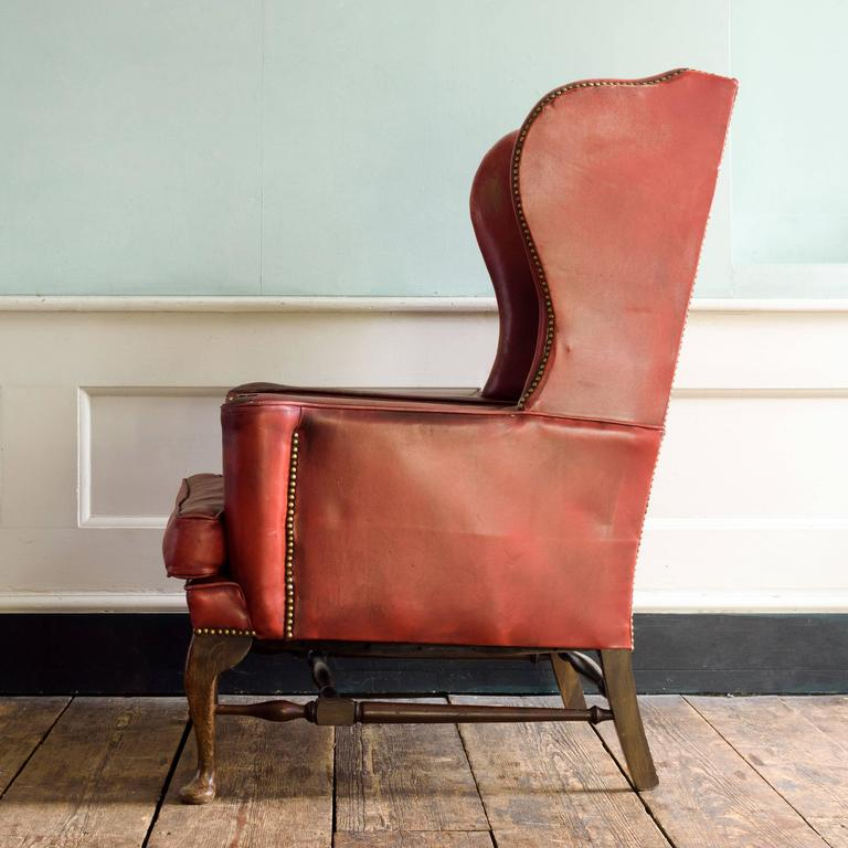 Red Leather Wingback Chair For Sale: Red Leather Wingback Armchairs At 1stdibs