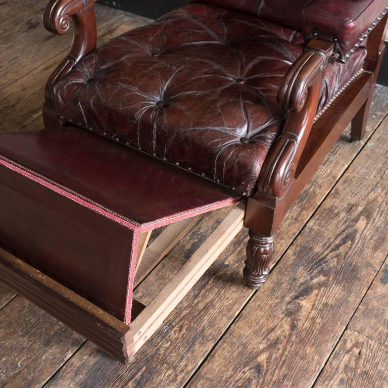 William IV Mahogany Reclining Reading Chair For Sale 5