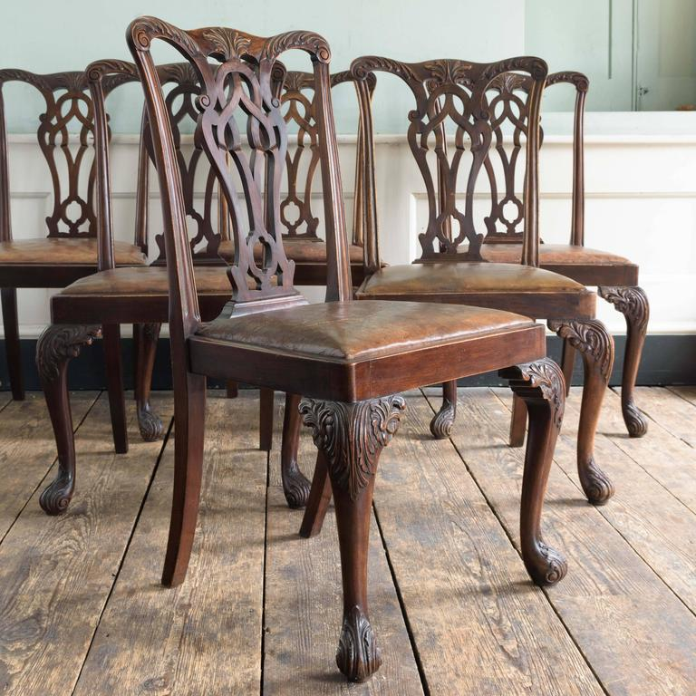 Great Britain (UK) Set of Six George III Style Chairs For Sale
