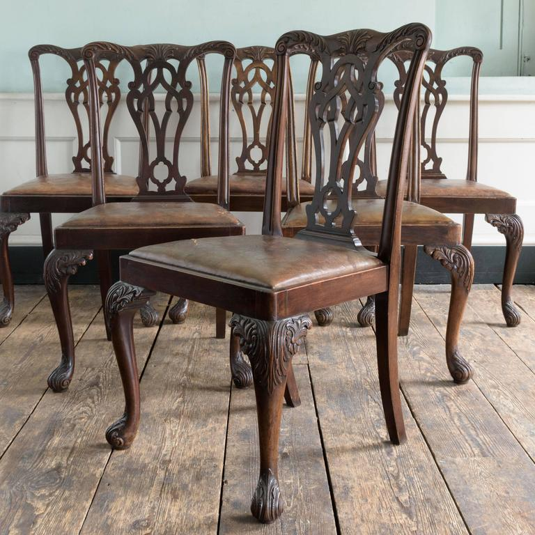 Set of Six George III Style Chairs In Good Condition For Sale In London, GB