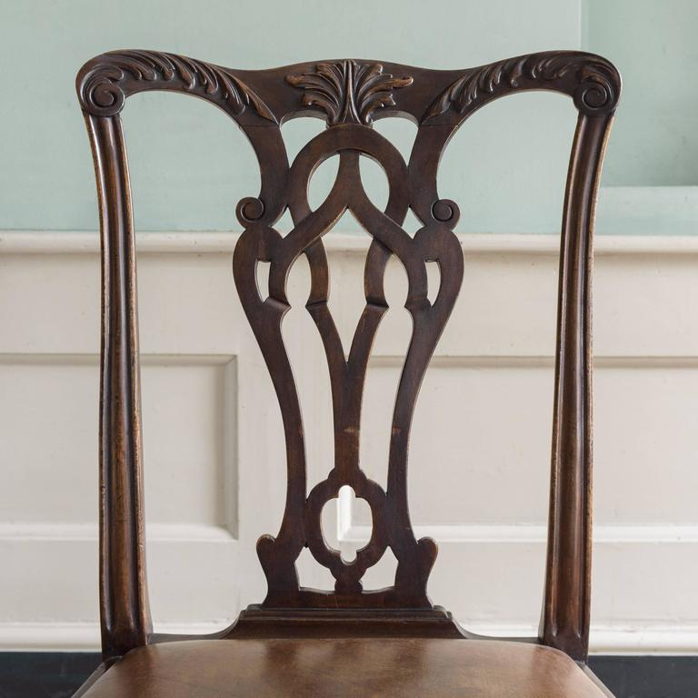 Set of Six George III Style Chairs For Sale 4