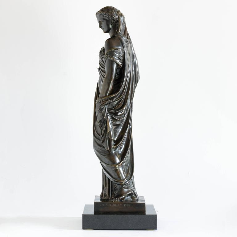 Classical Roman French Bronze of Pandora, Barbedienne Foundry For Sale