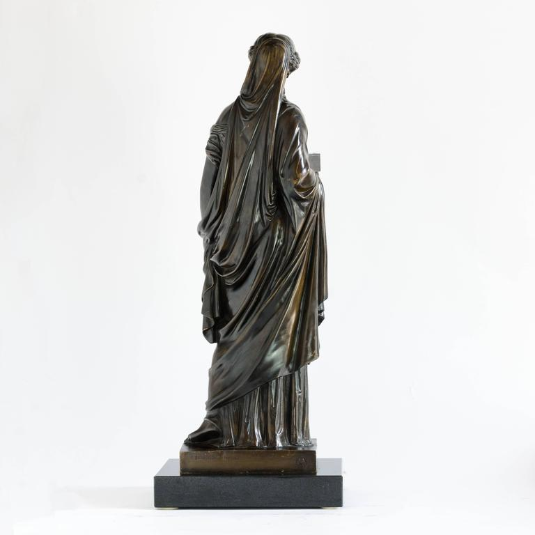 French Bronze of Pandora, Barbedienne Foundry In Good Condition For Sale In London, GB