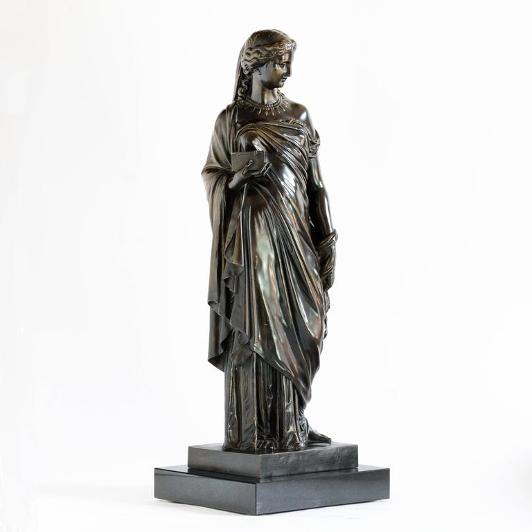 French Bronze of Pandora, Barbedienne Foundry For Sale 1