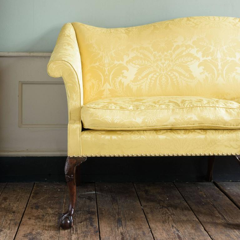 20th Century George II Style Mahogany Sofa For Sale