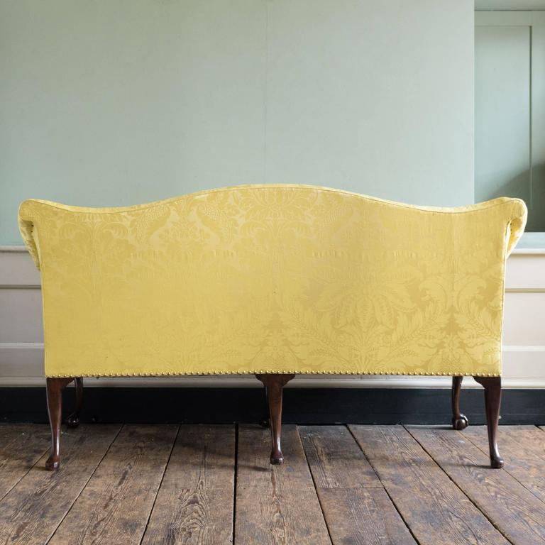 George II Style Mahogany Sofa For Sale 1