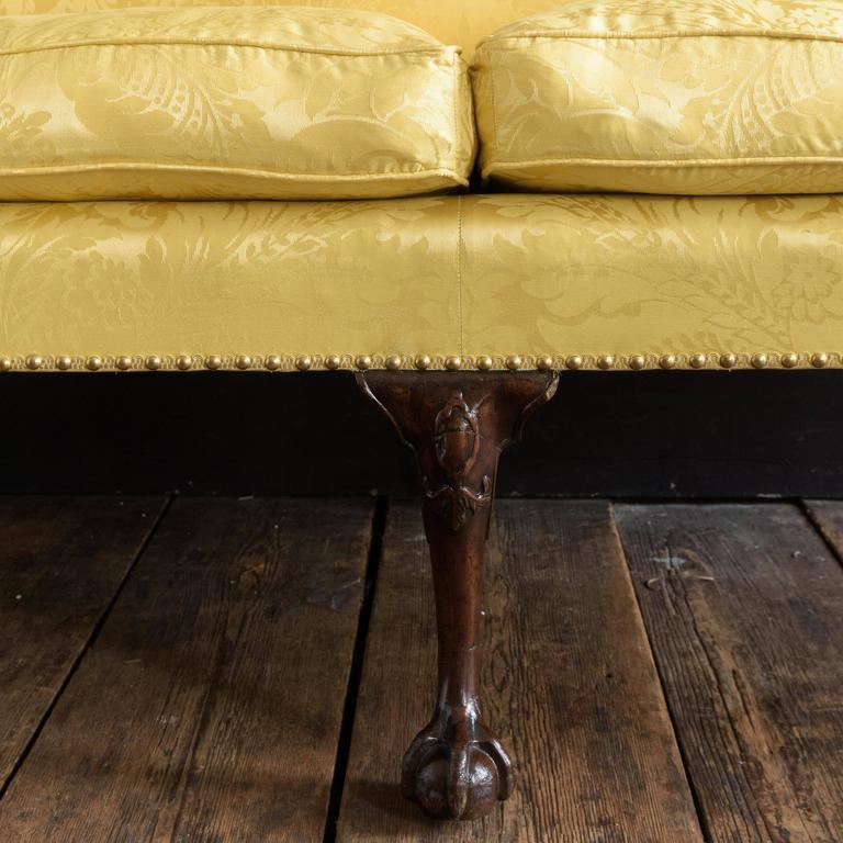 George II Style Mahogany Sofa For Sale 4