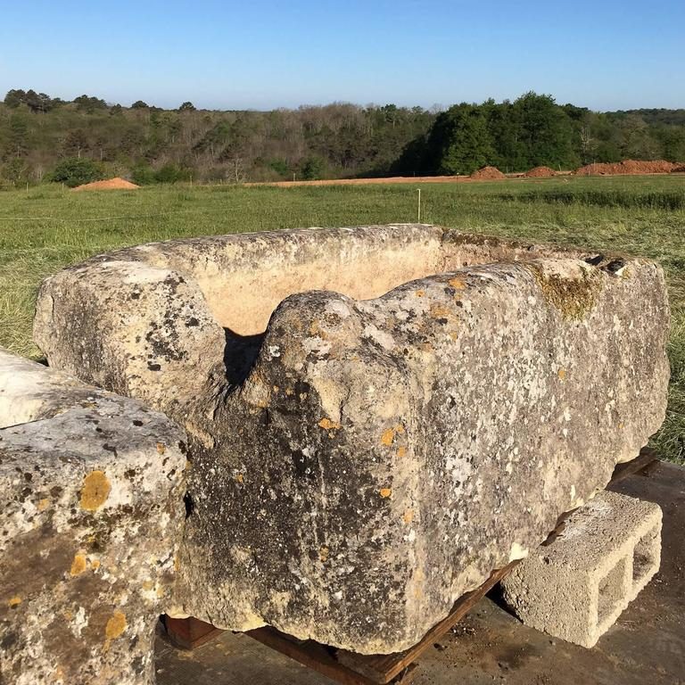 Country Large French Limestone Trough For Sale