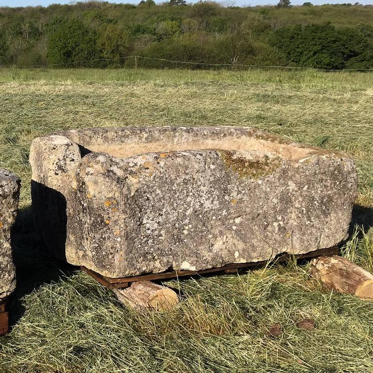 Large French Limestone Trough In Good Condition For Sale In London, GB