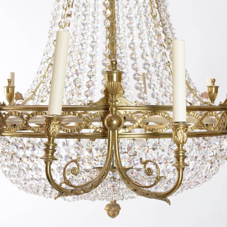 20th Century Two Substantial 18th Style Chandeliers For