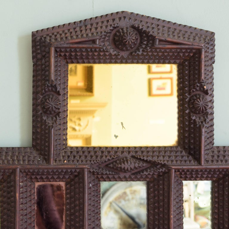 French Tramp Art Picture Frame For Sale at 1stdibs