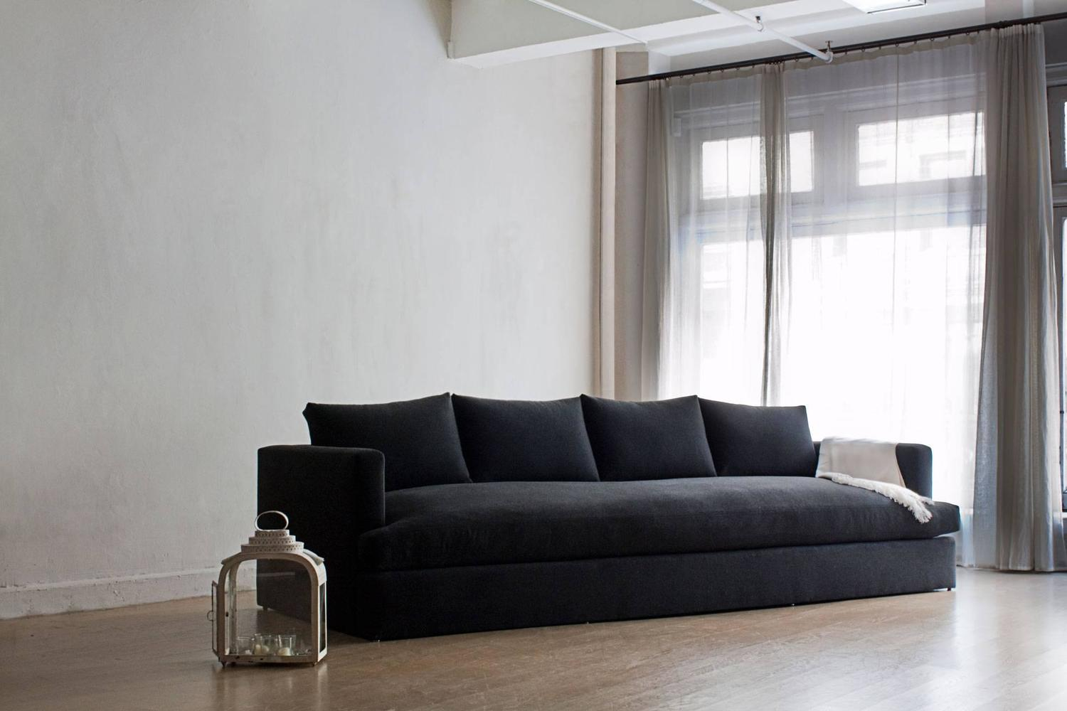 Contemporary Chelsea Square Deep Sofa, Custom and Made to Order by Dmitriy and Co For Sale at ...