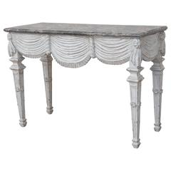 18th Century Carved and Painted Console