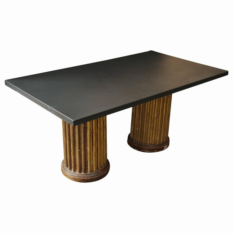 Slate top custom coffee table for sale at 1stdibs Slate top coffee tables