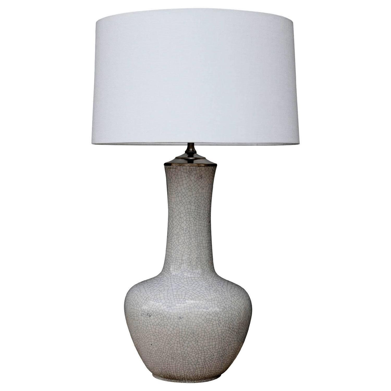 vintage crackle glazed vase as table lamp for sale at 1stdibs. Black Bedroom Furniture Sets. Home Design Ideas