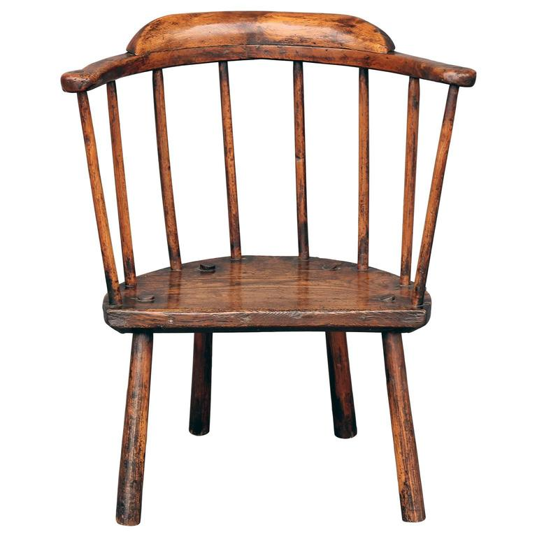 18th Century Stick Chair From Wales At 1stdibs