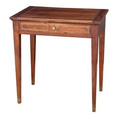 Early 19th Century French Walnut Single Drawer Table
