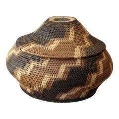 Vintage American Indian Lidded Basket