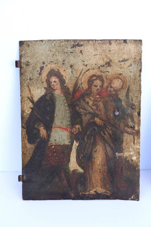Baroque Pair of Early Oil on Copper Paintings For Sale